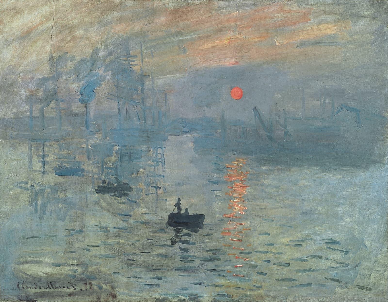 """Impresión, sol naciente"" (1872) por Claude Monet"