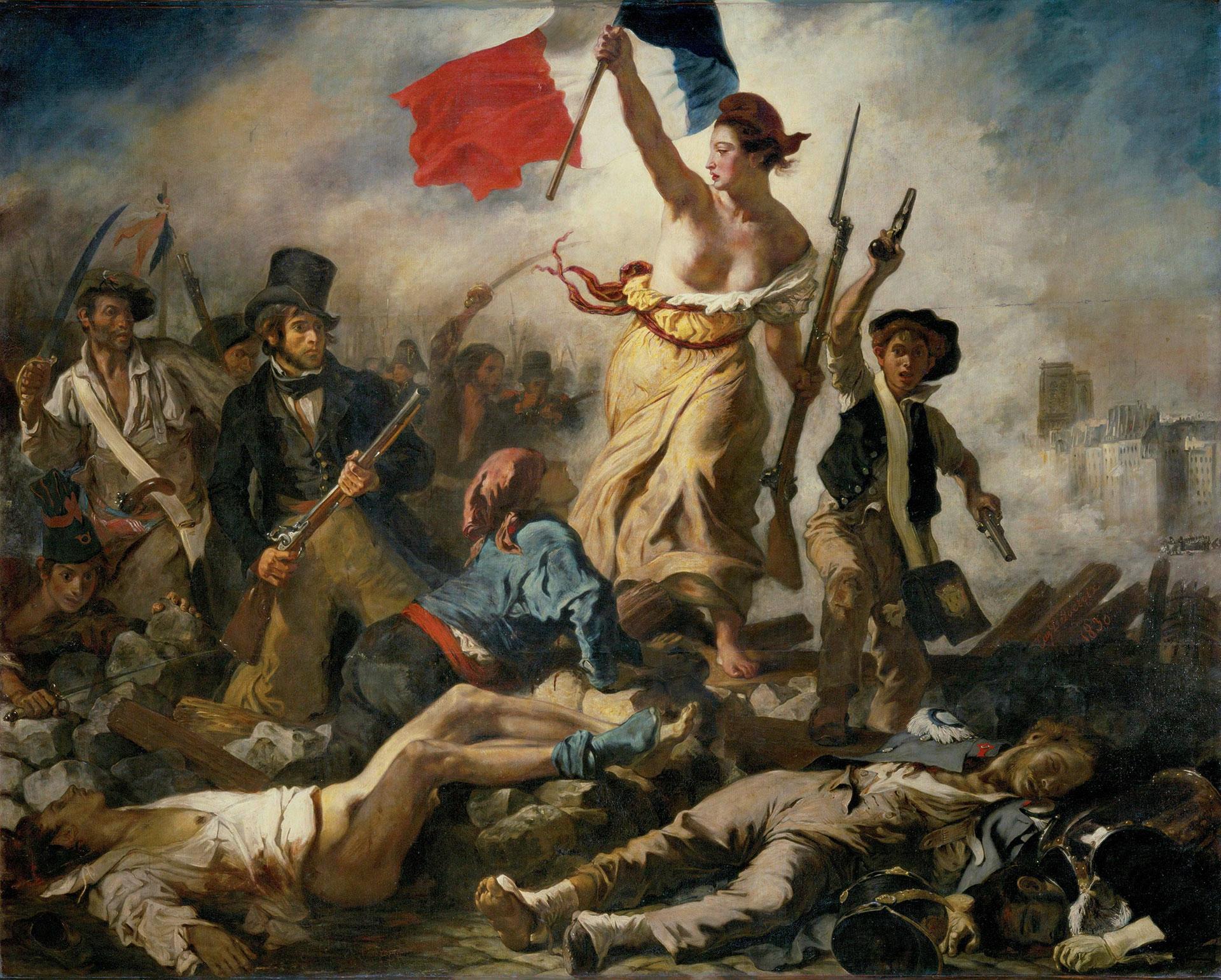 La Libertad guiando al pueblo, Eugène Delacroix.